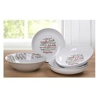 Product photograph showing Waterside Italian 5 Piece Pasta Bowl Set