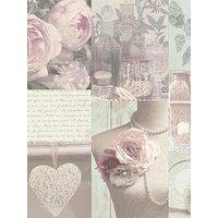 Product photograph showing Arthouse Charlotte Blush Wallpaper
