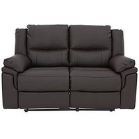 Product photograph showing Albion Luxury Faux Leather 2 Seater Manual Recliner Sofa