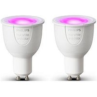 Product photograph showing Philips Hue White And Colour Ambiance Gu10 Led Single Lamp Double Pack - Gu10 Single Bulb