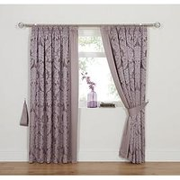 Product photograph showing Boston Jacquard Lined Pencil Pleat Curtains