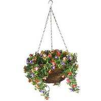 Product photograph showing Smart Solar Easy Artificial Hanging Basket - Bizzie Lizzie