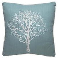 Product photograph showing Trees Printed Filled Cushion Pair - 43 X 43cms
