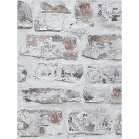 Product photograph showing Arthouse Whitewashed Brick Wall Wallpaper