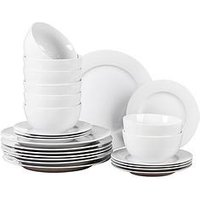 Product photograph showing Waterside Pure White 24 Piece Dinner Set