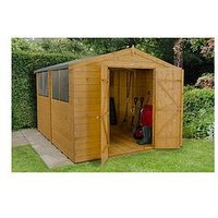 Product photograph showing Forest 10 X 8ft Shiplap Apex Dip Treated Double Door Shed
