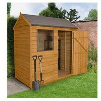 Product photograph showing Forest 6 X 4ft Value Overlap Reverse Apex Shed
