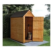 Product photograph showing Forest 5 X 3ft Value Overlap Apex Starter Shed With Single Door