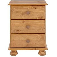 Product photograph showing Richmond 3 Drawer Bedside Cabinet
