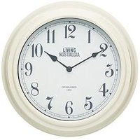 Product photograph showing Kitchencraft 25 5cm Wall Clock - Cream