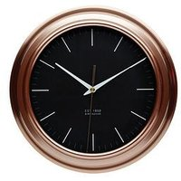 Product photograph showing Kitchencraft Copper Finish Clock