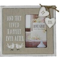 Product photograph showing Happily Ever After Wooden Photo Frame