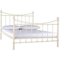 Product photograph showing Ruby Metal Bed Frame With Mattress Options Buy And Save - Bed Frame With Microquilt Mattress