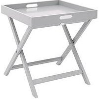 Product photograph showing Betsy Folding Tray Table - Grey