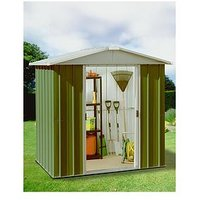 Product photograph showing Yardmaster 6 1 X 6 1 Ft Apex Roof Metal Garden Shed