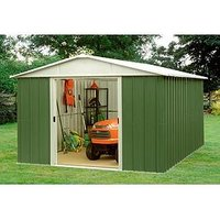 Product photograph showing Yardmaster 7 5 X 8 9 Ft Apex Metal Roof Shed