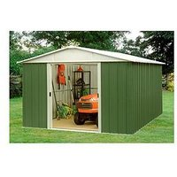 Product photograph showing Yardmaster 9 4 X 7 5 Ft Apex Roof Metal Garden Shed