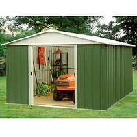 Product photograph showing Yardmaster 9 4 X 9 4 Ft Apex Metal Roof Shed