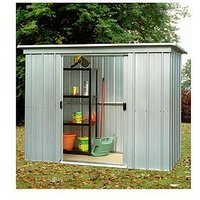 Product photograph showing Yardmaster 7 8 X 3 9ft Double Door Pent Roof Shed