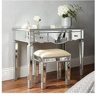 Product photograph showing Mirage Dressing Table And Stool Set