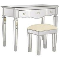 Product photograph showing Ideal Home Mirage Dressing Table And Stool Set