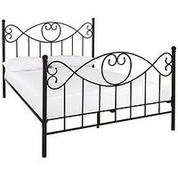 Product photograph showing Juliette Metal Bed Frame With Mattress Options Buy And Save - Bed Frame With Microquilt Mattress