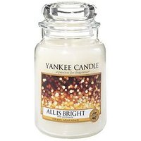 Product photograph showing Yankee Candle All Is Bright Large Jar Candle