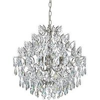 Product photograph showing Luxe Collection Charlotte Luxury Glass Chandelier
