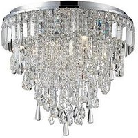 Product photograph showing Bresna 6 Light Mixed Crystal Flush Ceiling Fitting