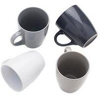 Product photograph showing Sabichi Set Of 4 Textured Mugs