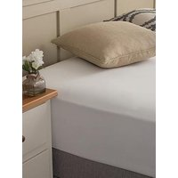 Product photograph showing Silentnight Easy Care 180 Thread Count Cotton Rich Fitted Sheet - White