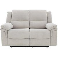 Product photograph showing Albion Fabric 2 Seater Manual Recliner Sofa