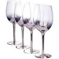 Product photograph showing Waterside Platinum Ombre Wine Glasses Ndash Set Of 4