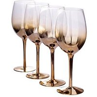 Product photograph showing Waterside Gold Ombre Wine Glasses Ndash Set Of 4