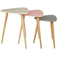 Product photograph showing Orla Blush Nest Of 3 Tables