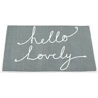 Product photograph showing Hello Lovely Bath Mat