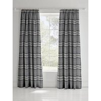 Product photograph showing Catherine Lansfield Kelso Check Lined Pencil Pleat Curtains