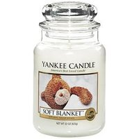 Product photograph showing Yankee Candle Soft Blanket Large Jar Candle