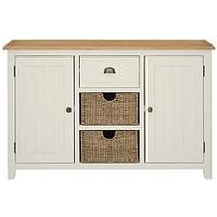 Product photograph showing Luxe Collection - Clovely Painted Ready Assembled Large Sideboard With Storage Baskets