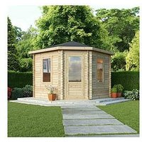 Product photograph showing Mercia 3 X 3m Corner Log Cabin