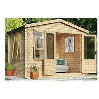 Product photograph showing Mercia 3 3 X 3m Sherwood Log Cabin