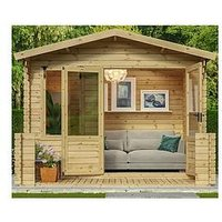 Product photograph showing Mercia 3 3 X 3 4m Sherwood Log Cabin