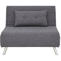 Product photograph showing Rafael Single Fabric Sofa Bed