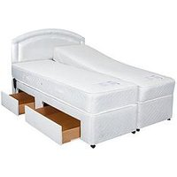 Product photograph showing Mibed Fraiser Adjustable Divan Beds 2 X Linked Beds With 800 Pocket Memory Mattresses