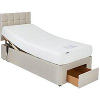 Product photograph showing Mibed Rainford Memory Mattress Adjustable Bed With Storage Options