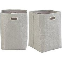 Product photograph showing Glitter Paperloom Laundry Bags - Set Of 2