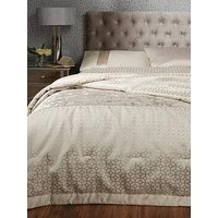 Product photograph showing Ideal Home Vienna Velvet Panel Geo Bedspread Throw