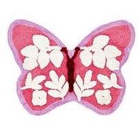 Product photograph showing Catherine Lansfield Butterfly Rug