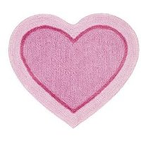 Product photograph showing Catherine Lansfield Heart Shaped Rug