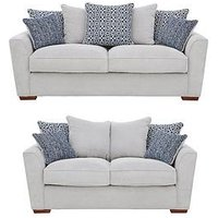 Product photograph showing Bloom Fabric 3-seater 2-seater Sofa Set Buy And Save